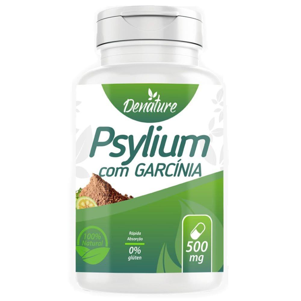 Psyllium com Garcinia 500mg 100 cápsulas - Denature