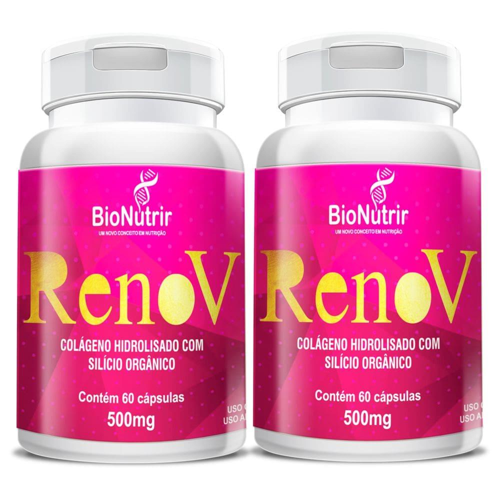Renov ( Colágeno Hid. + Silício Orgânico) - 2 unidades de 60 cápsulas - Bionutrir