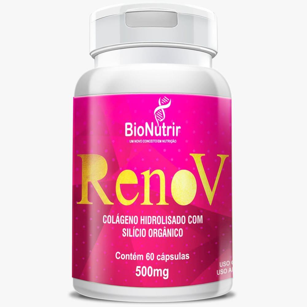 Renov ( Colágeno Hid. + Silício Orgânico) 60 cápsulas - Bionutrir  - Natulha