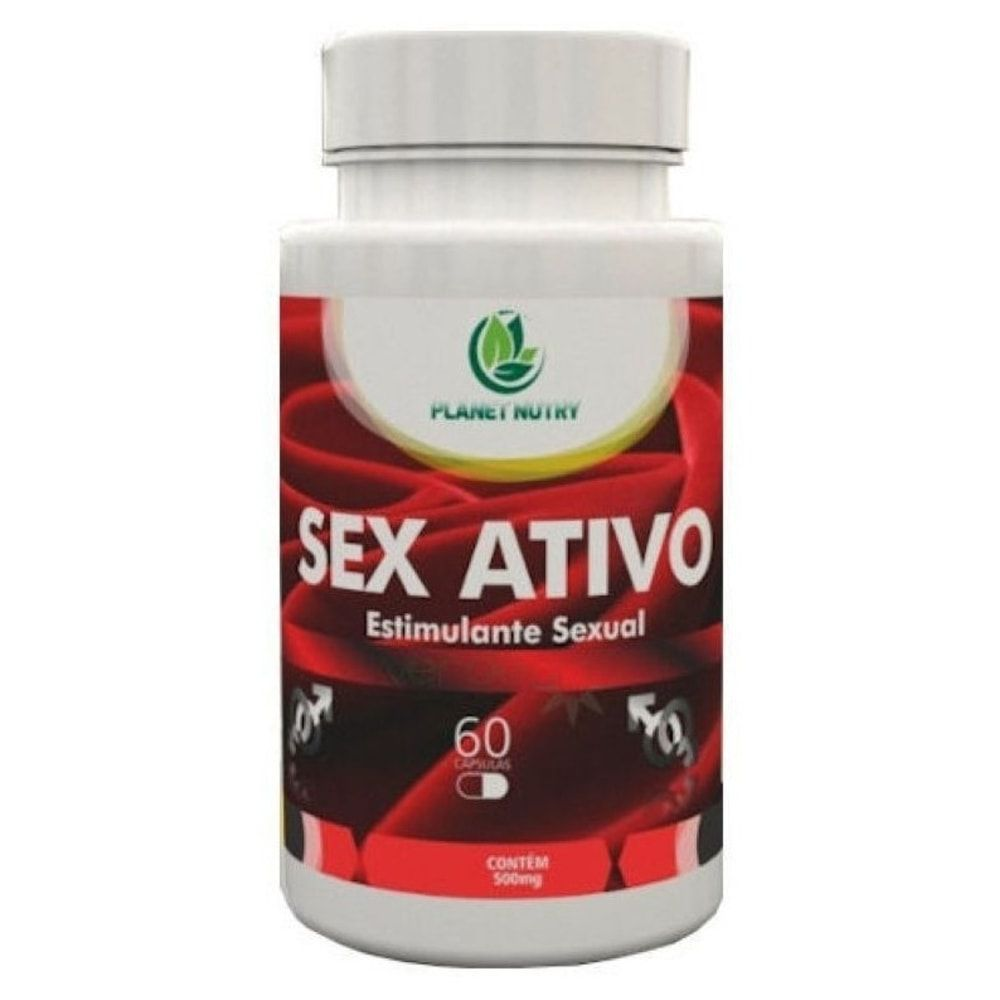 Sex Ativo Estimulante Sexual Natural - 60 Cápsulas - Planet Nutry  - Natulha