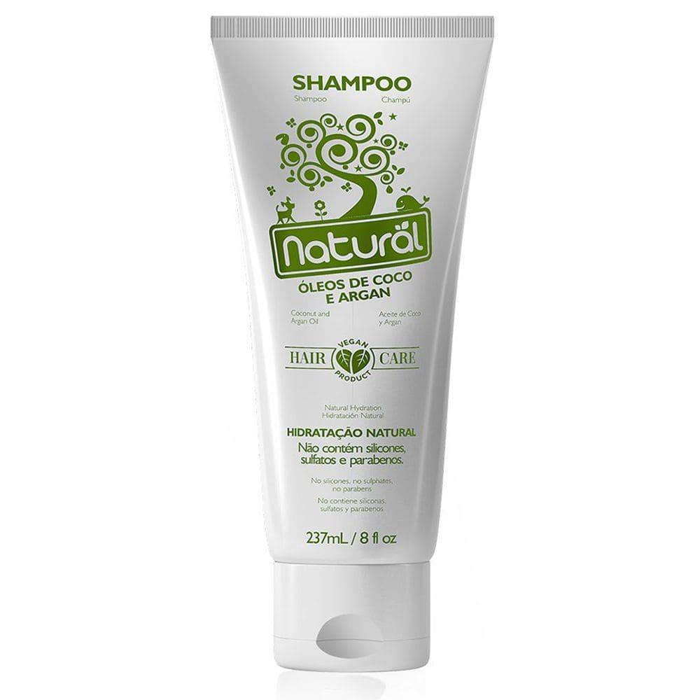 Shampoo com Óleos de Coco e Argan  237ml - Orgânico Natural