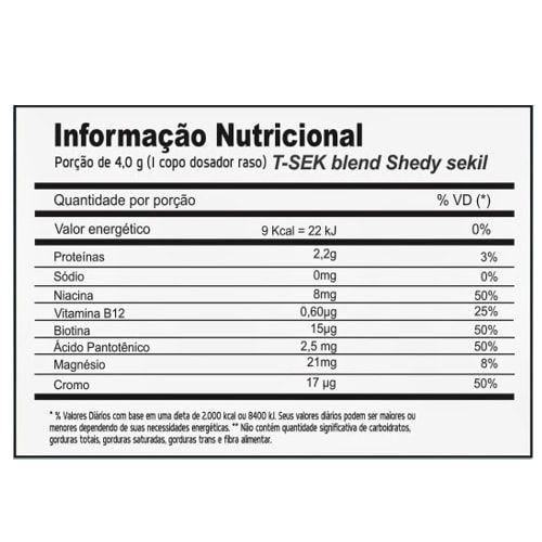 T_Sek Diurético 120g - Power Supplements  - Personall Suplementos