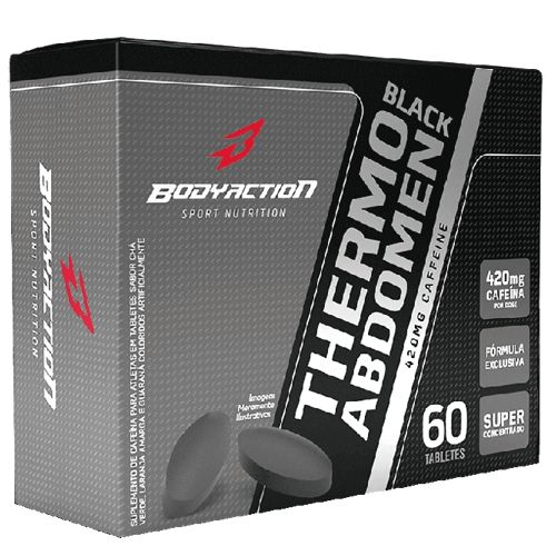 Thermo Abdomen Black 60tabs - Body Action  - Personall Suplementos
