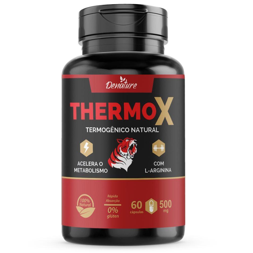Thermo X - Termogênico Natural - 60 cápsulas - Denature