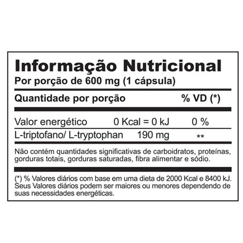 Tryptophan (Triptofano) 30 caps - Daily Supplement  - Personall Suplementos