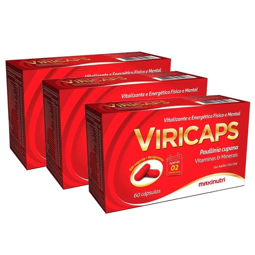Viricaps - 3 unidades de 60 cápsulas - Maxinutri