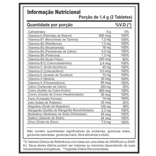 Vit-Complex 60tabs - Profit  - Personall Suplementos