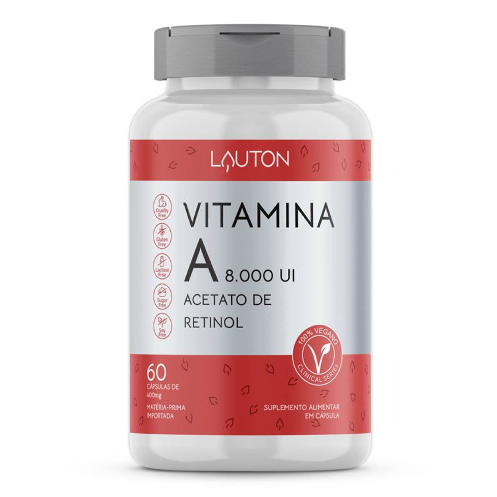 Vitamina A 8.000 UI 60 Cápsulas  - Lauton Nutrition