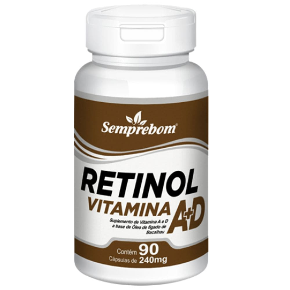 Vitamina A+D 90 cápsulas - Semprebom