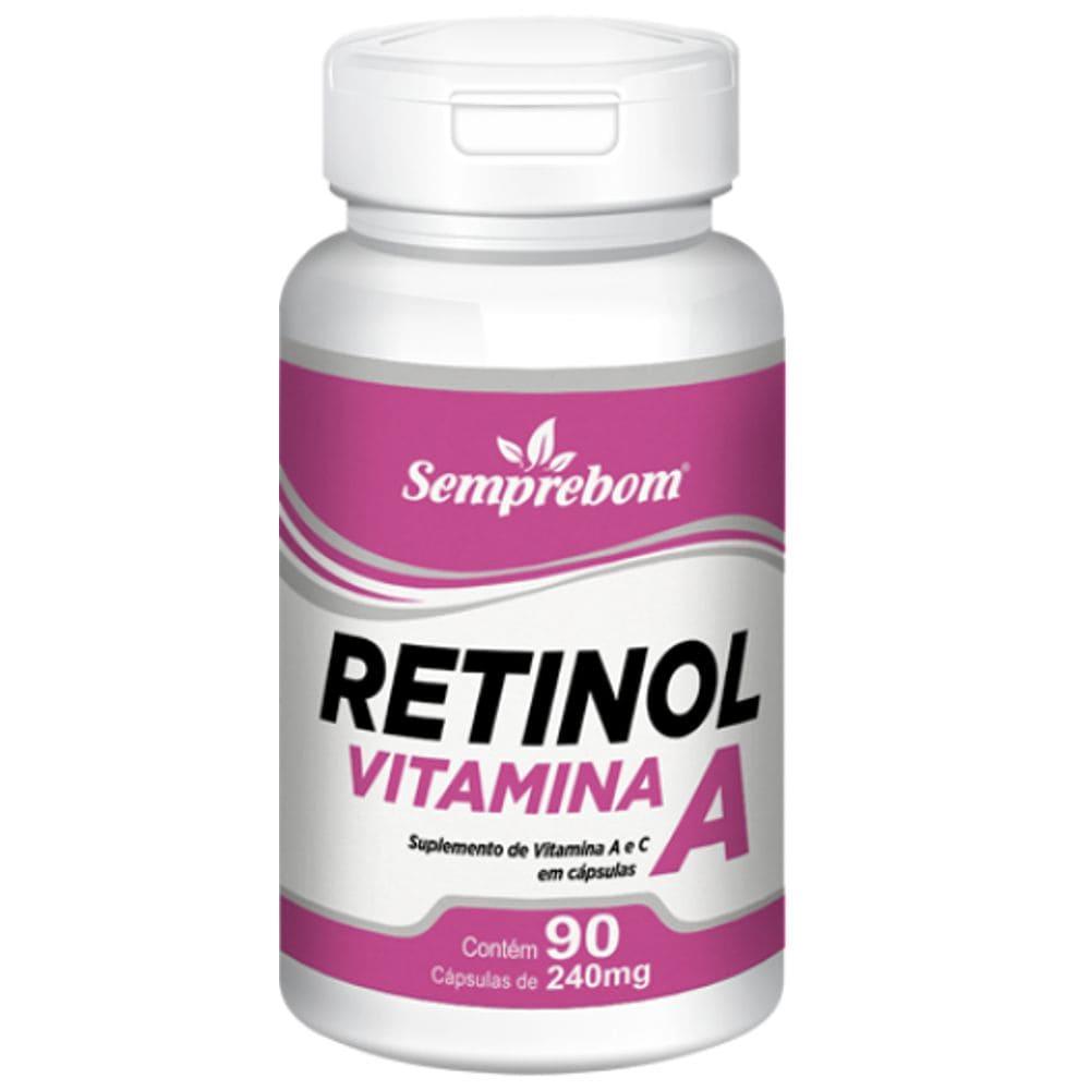 Vitamina A (Retinol) 90 cápsulas - Semprebom