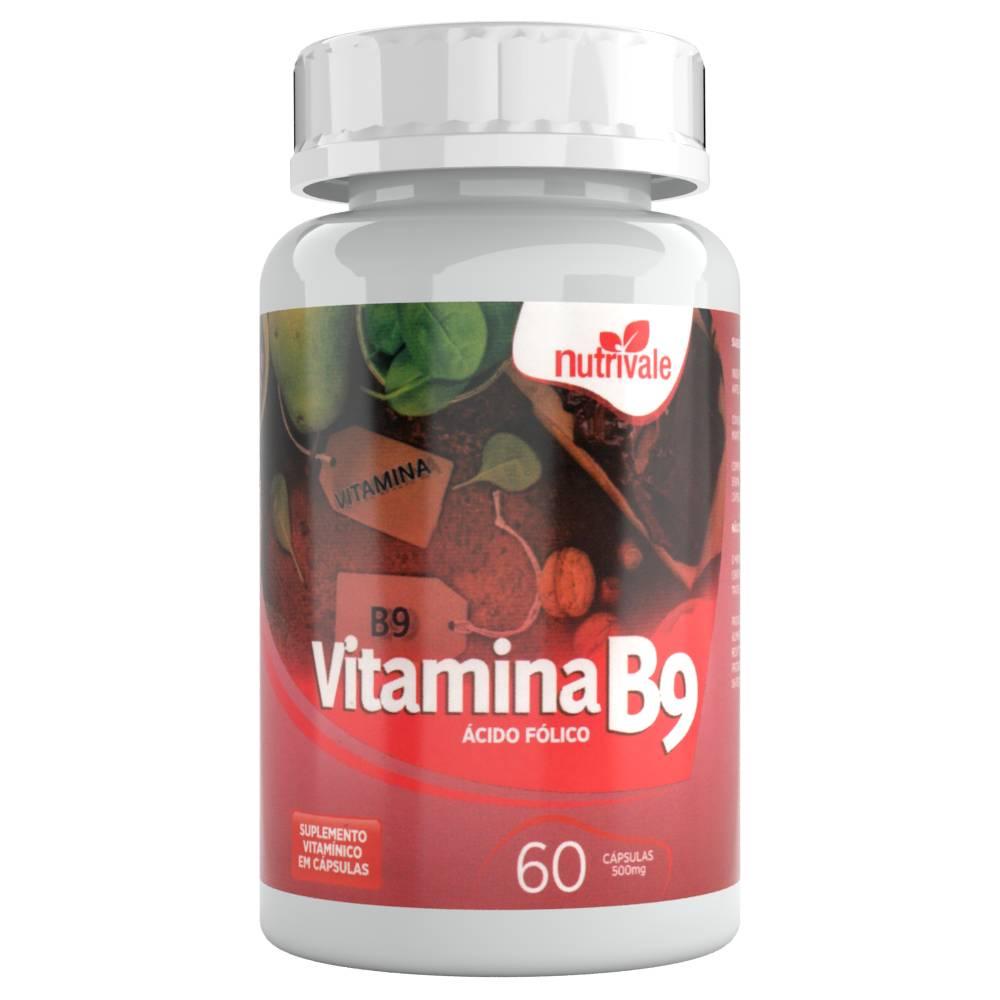 Vitamina B9 (Ácido Fólico) 60 cápsulas - Nutrivale