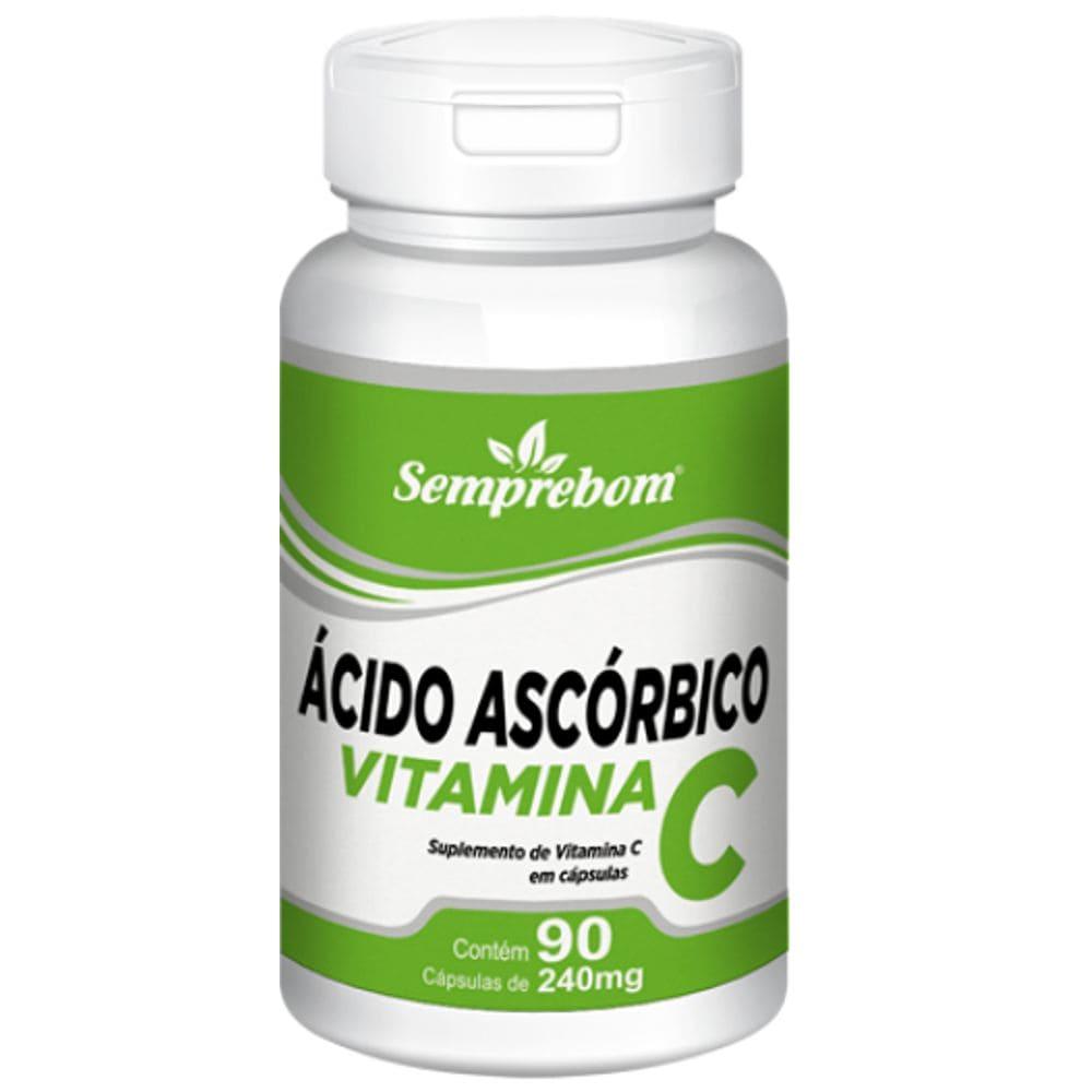 Vitamina C (Ácido Ascórbico) 90 cápsulas - Semprebom