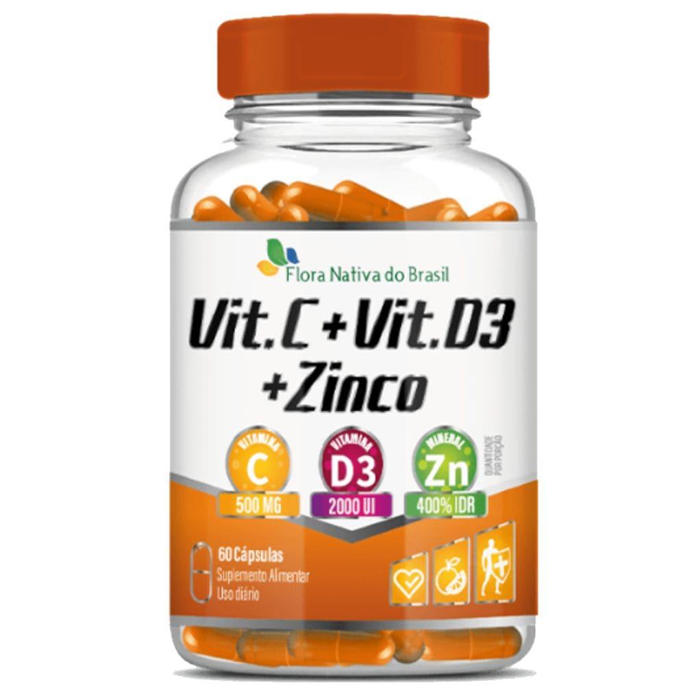 Vitamina C + D3 + Zinco 60 cápsulas - Flora Nativa