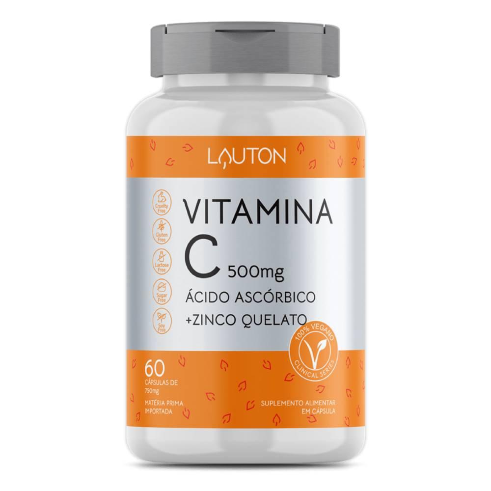 Vitamina C + Zinco 60 Cápsulas  - Lauton Nutrition