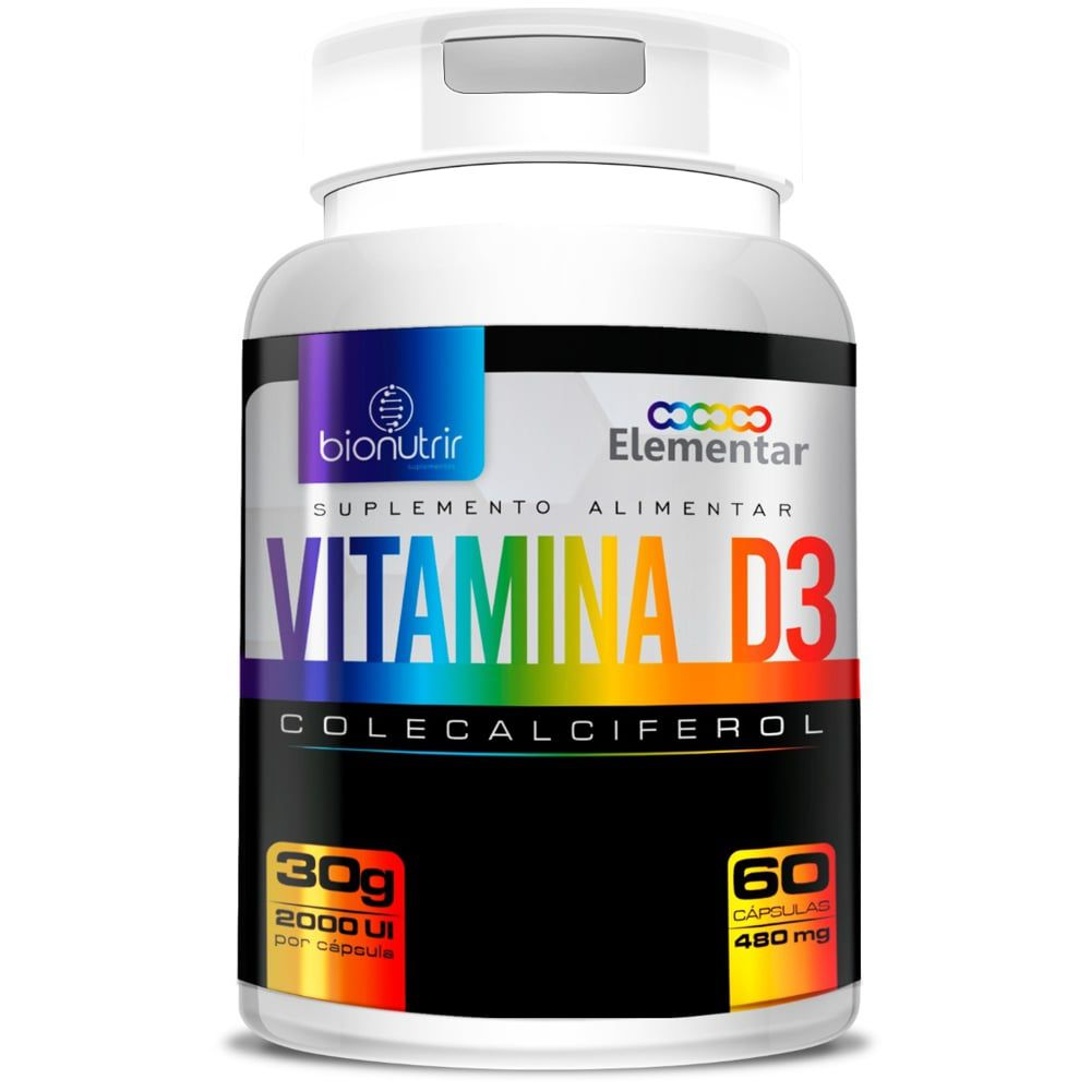 Vitamina D3 60 cápsulas - Bionutrir