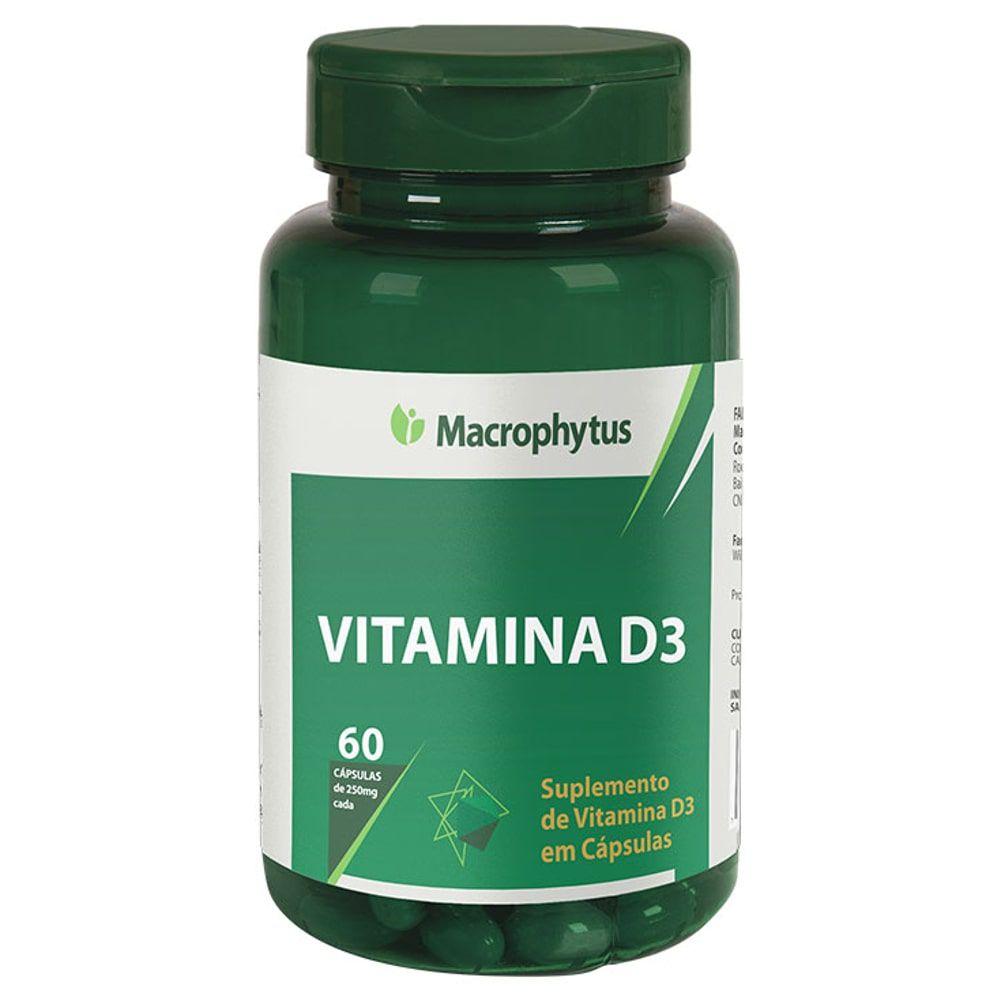 Vitamina D3 60 cápsulas - Macrophytus