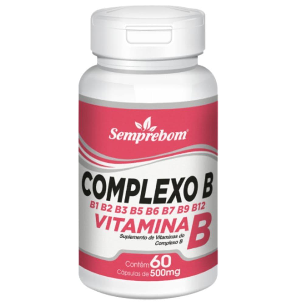 Vitaminas do Complexo B 60 cápsulas - Semprebom