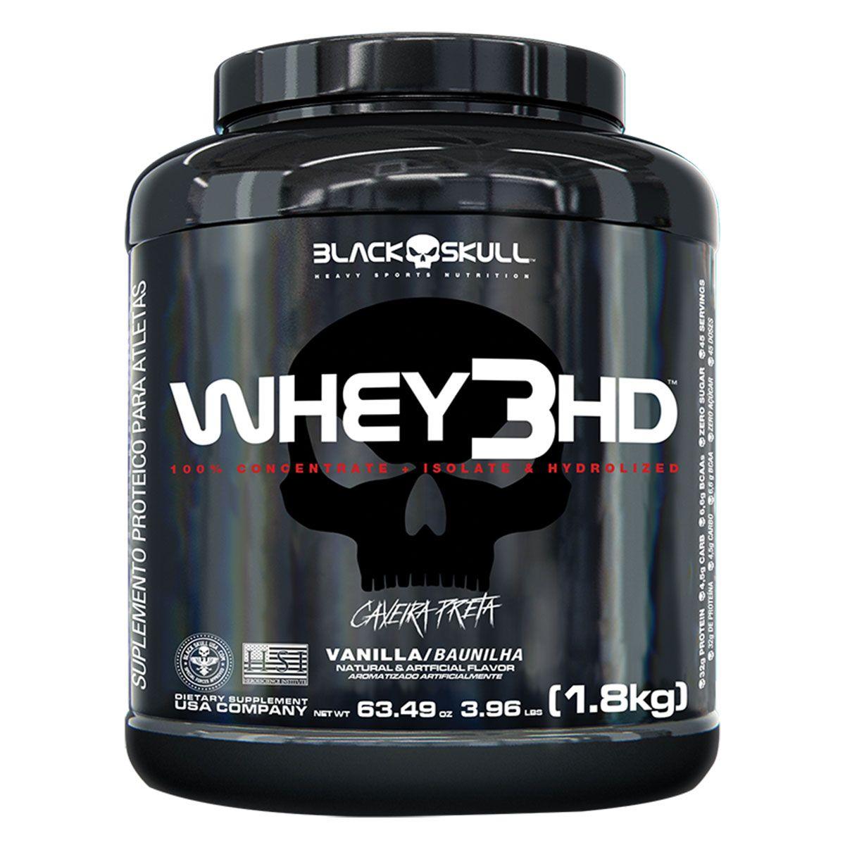 Whey3HD 1,8kg - Black Skull  - Personall Suplementos