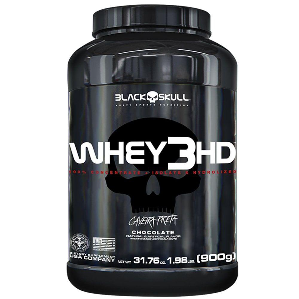 Whey 3HD 900g - Black Skull  - Personall Suplementos