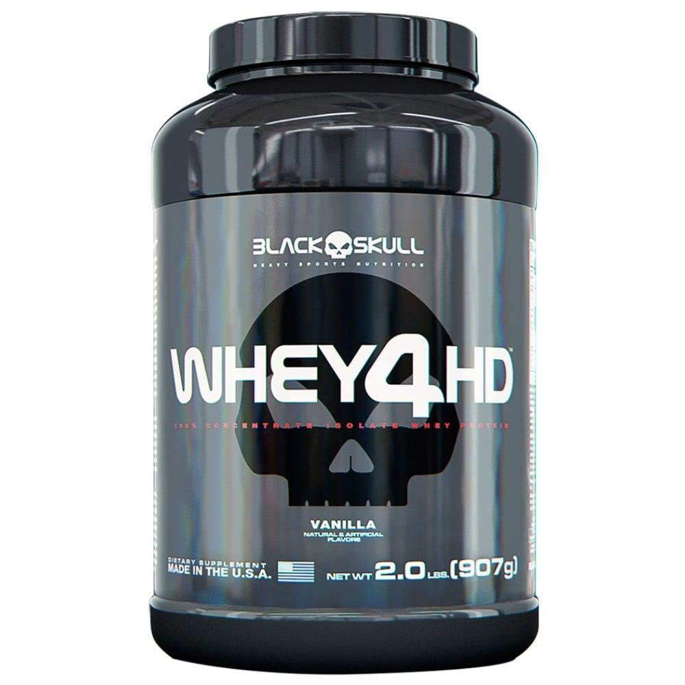 Whey 4HD 907g - Black Skull   - Personall Suplementos
