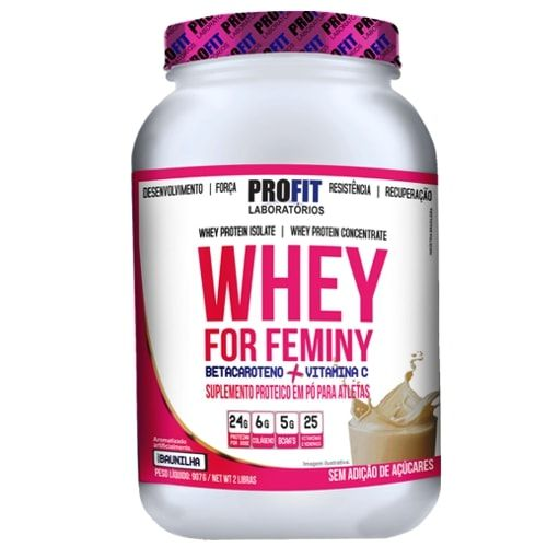 Whey For Feminy 900g - Profit   - Personall Suplementos