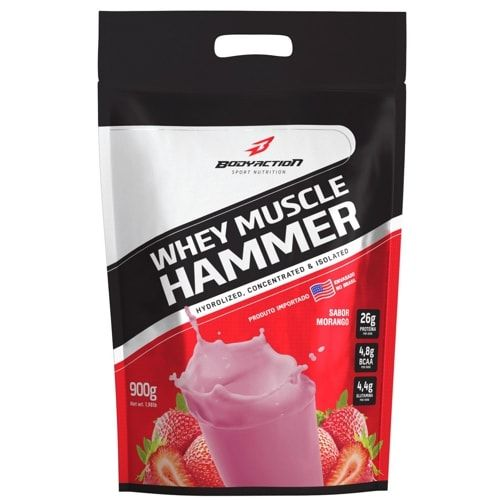 Whey Muscle Hammer 900g - Body Action   - Personall Suplementos