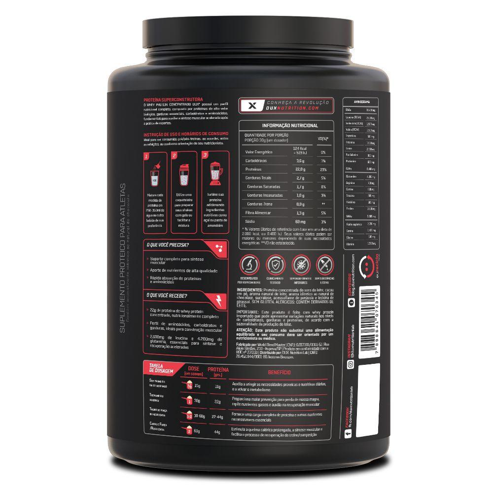 Whey Protein Concentrado 900 gramas - Dux Nutrition  - Natulha