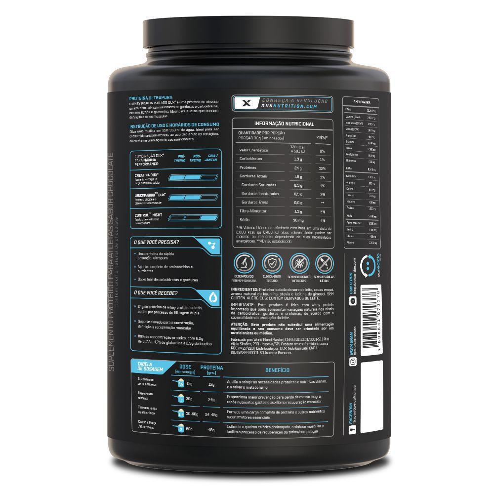 Whey Protein Isolado All Natural 900 gramas - Dux Nutrition  - Natulha