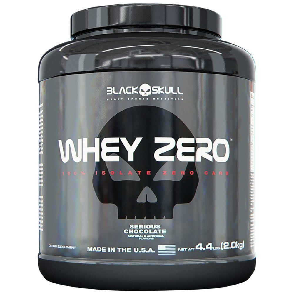 Whey Zero 2kg - Black Skull  - Personall Suplementos