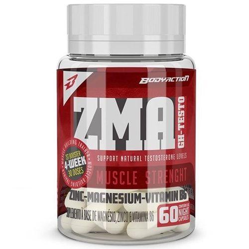 ZMA GH Testo 60caps - Body Action  - Personall Suplementos
