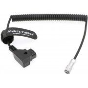 Alvin's Cables BMPCC 4K to D Tap Power Cable for Blackmagic Pocket Cinema Camera 4K Gold Mount V Mount Battery Weipu 2 Pin Female to P Tap
