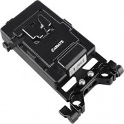 CAMVATE V-Lock Mounting Plate Power Supply Splitter with 15mm Rod Clamp-1524