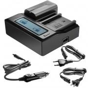 Carregador para baterias Sony NP-F550/F570/F750/F770/F930/F950/F960/F970, NP-FM50/FM500H/QM71/QM91/QM71D/QM91D