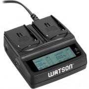 Carregador Watson Duo LCD para Baterias Série L & M