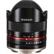 Lente Rokinon 8mm f / 2.8 UMC Fisheye II para Sony E (Preto)