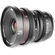 Meike 25mm T2.2 Large Aperture Manual Focus Prime Low Distortion Mini Cine Lens Compatible with Sony E mount Cameras A7III A9 NEX 3 3N 5 NEX 5T NEX 5R NEX 6 7 A6400 A5000 A5100 A6000 A6100 A6300 A6500