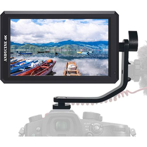 "ANDYCINE A6 5.7"" Full HD HDMI On-Camera Monitor with 4K Support/DC Out/Tilt Arm"