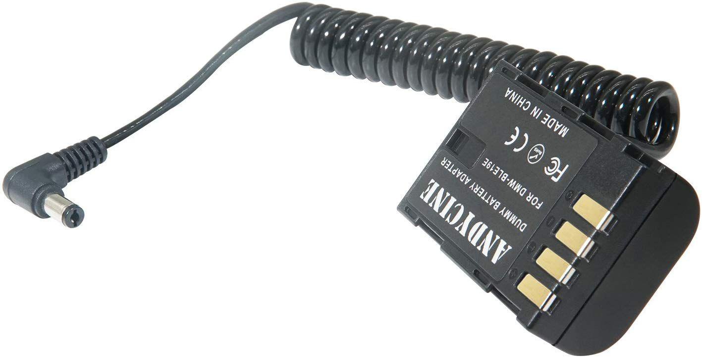 ANDYCINE External Dummy Battery for Lumix DMC-GH3,DMC-GH4,DC-GH5