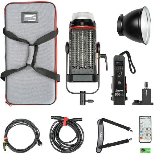 Aputure Light Storm C300d Mark II LED Light Kit with V-Mount Battery Plate