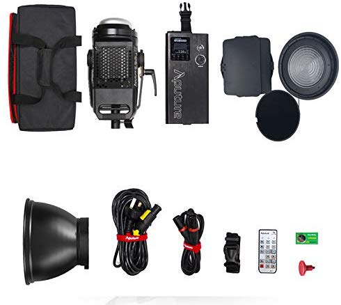 Aputure Light Storm LS C120d II COB 120D Mark 2 + Fresnel mount 180W 5500K LED Continuous Video Light CRI96+ TLCI97+ Bowens Mount,the Ultimate Upgrade,Support DMX,5 Pre-programmed Lighting Effects