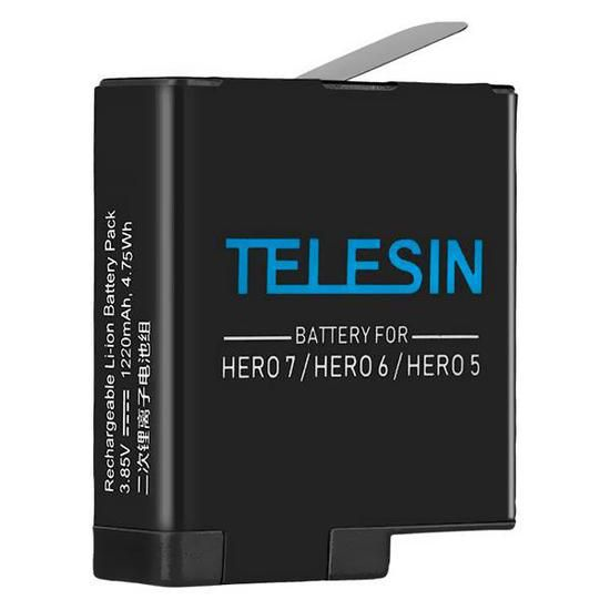 Bateria 1.220 Mah para Camera Gopro Hero 5/6/7 Telesin GP-BTR-501