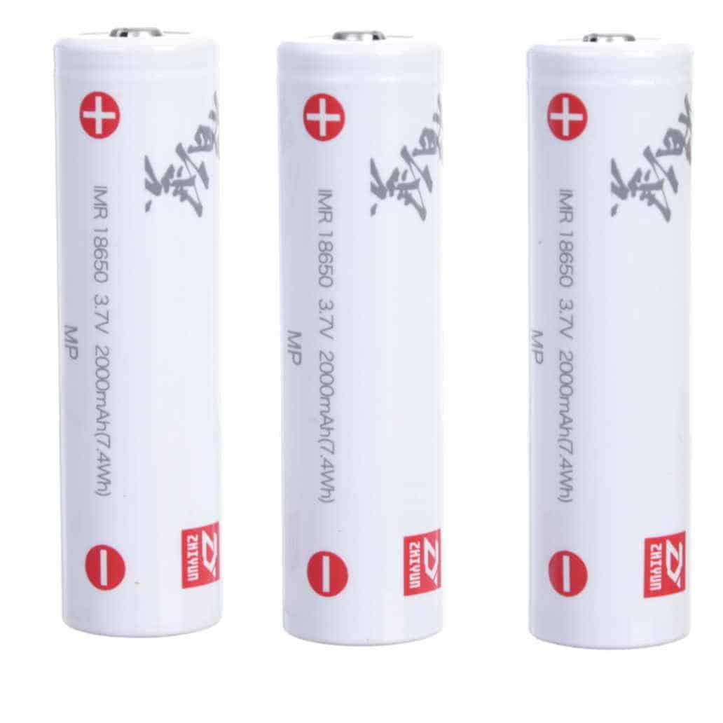 Bateria Zhiyun-Tech 18650 (3 unidades)