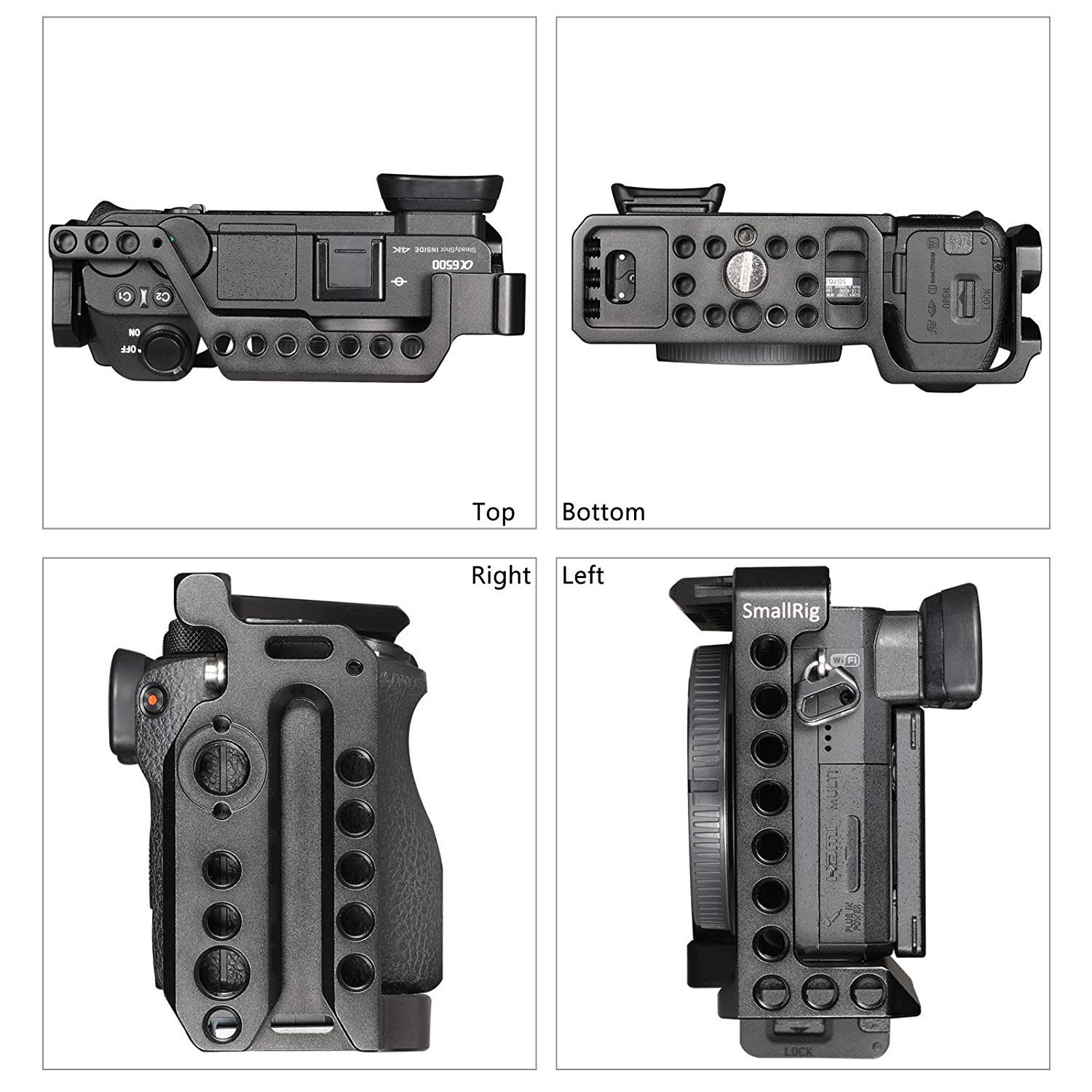 SMALLRIG Cage for Sony Alpha A6500/ILCE 6500 4K Digital Mirrorless Camera - 1889