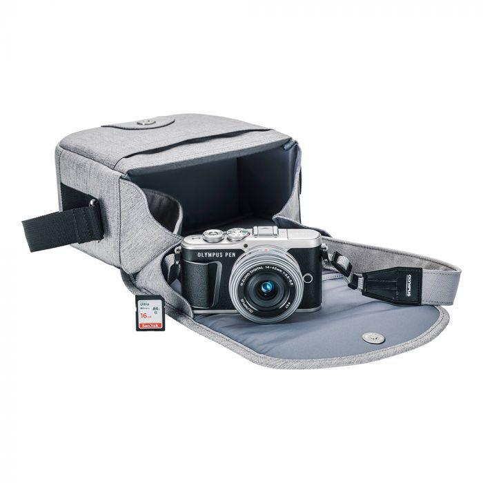 Câmara Olympus PEN E-PL9 Kit 14-42mm (Estojo + Memória)