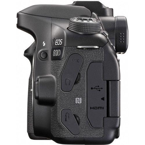 Camera Canon Eos 80D Corpo Preto