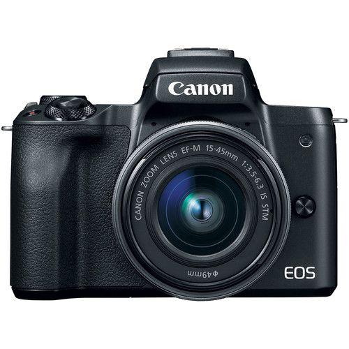 Camera Canon Eos M50 15-45MM F/3.5-6.3 Is STM Preto