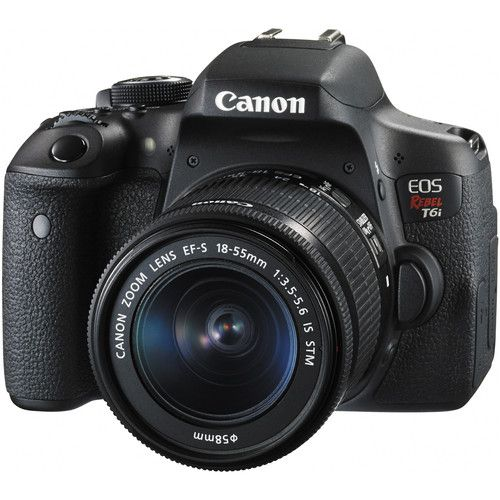 Camera Canon Eos Rebel T6I DSLR Kit 18-55 Is STM