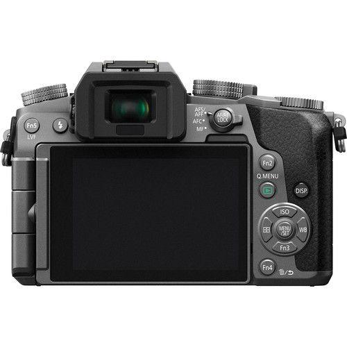 Câmera digital Panasonic Micro Lumix DMC-G7 sem espelho de quatro terços com lente de 14 a 42 mm (prata)