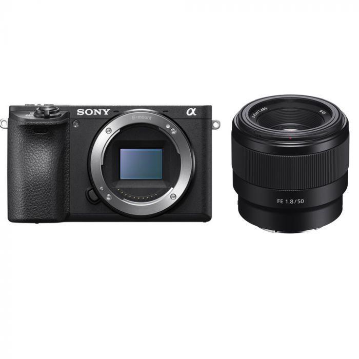 Camera Sony A6500 Corpo + Lente Sel Fe 50MM F/1.8F