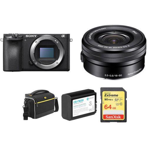 Camera Sony Alpha a6500 Mirrorless Digital with 16-50mm Lens